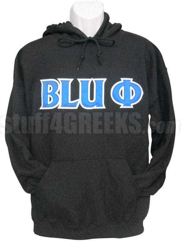 Phi Beta Sigma Blu Phi Pullover Sweatshirt Hoodie Black