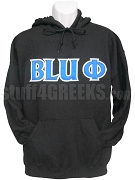 Phi Beta Sigma Blu Phi Pullover Sweatshirt Hoodie, Black - EMBROIDERED WITH LIFETIME GUARANTEE
