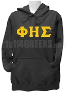 Phi Eta Sigma Ladies Greek Letter Pullover Hoodie Sweatshirt, Black