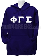 Phi Gamma Sigma Ladies Greek Letter Pullover Hoodie Sweatshirt, Navy Blue