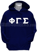 Phi Gamma Sigma Men's Greek Letter Pullover Hoodie Sweatshirt, Navy Blue