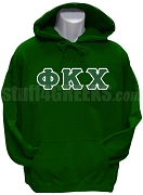 Phi Kappa Chi Greek Letter Pullover Hoodie Sweatshirt, Forest Green