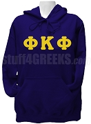 Phi Kappa Phi Ladies Greek Letter Pullover Hoodie Sweatshirt, Navy Blue