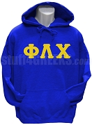 Phi Lambda Chi Greek Letter Pullover Hoodie Sweatshirt, Royal Blue