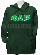 Phi Lambda Rho Greek Letter Pullover Hoodie Sweatshirt, Forest Green