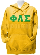 Phi Lambda Sigma Ladies Greek Letter Pullover Hoodie Sweatshirt, Gold