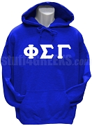 Phi Sigma Gamma Greek Letter Pullover Hoodie Sweatshirt, Royal Blue
