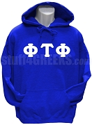 Phi Tau Phi Men's Greek Letter Pullover Hoodie Sweatshirt, Royal Blue