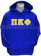 Pi Kappa Phi  Greek Letter Pullover Hoodie Sweatshirt, Royal Blue
