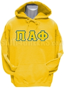 Pi Alpha Phi Pullover Hoodie Sweatshirt, Gold