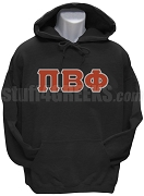 Pi Beta Phi Greek Letter Pullover Hoodie Sweatshirt, Black