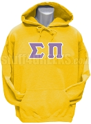 Sigma Pi Greek Letter Pullover Hoodie, Gold
