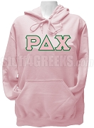 Rho Delta Chi Pullover Hoodie Sweatshirt with Greek Letters, Pink