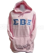 Sigma Beta Xi Greek Letter Pullover Hoodie Sweatshirt, Light Pink