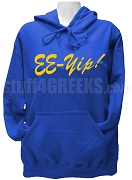Sigma Gamma Rho Hoodie Sweatshirt with EE-Yip Letters, Royal Blue