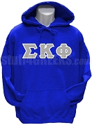 Sigma Kappa Phi Greek Letter Pullover Hoodie Sweatshirt, Royal Blue