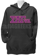 Sigma Lambda Gamma Psi Alpha Chapter Greek Letter Pullover Hoodie Sweatshirt, Black