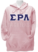 Sigma Rho Lambda Pullover Hoodie Sweatshirt with Greek Letters, Pink