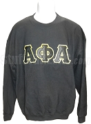 Alpha Phi Alpha Greek Letter Sweatshirt, Black