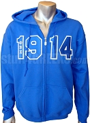 Phi Beta Sigma 1914 Royal Blue Zip-Up Hoodie Sweatshirt