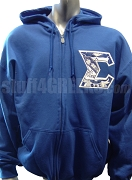 Phi Beta Sigma Full-Zip Hoodie Sweatshirt with Embellished Sigma, Royal