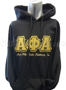 Alpha Phi Alpha Pullover Hoodie Sweatshirt with Triple Letters, Black