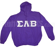 Sigma Lambda Beta Greek Letter Pullover Hoodie, Purple