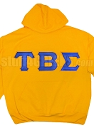 Tau Beta Sigma Greek Letter Pullover Hoodie, Gold