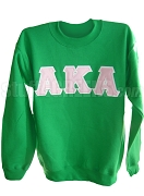 Alpha Kappa Alpha Greek Letter Crewneck Sweatshirt, Kelly Green