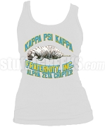 Kappa Psi Kappa Alpha Zeta Chapter Ladies Heatpress Tank Top with Tiger, White