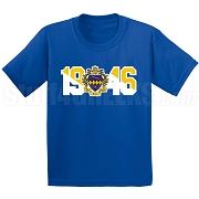Tau Beta Sigma Screen Printed T-Shirt with Crest and Founding Year, Royal Blue