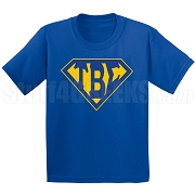 Tau Beta Sigma Screen Printed T-Shirt with Letters Inside Superman Shield, Royal Blue