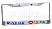 Mason/Order of the Eastern Star Split License Plate Frame - Mason/Order of the Eastern Star Split Car Tag