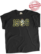 1906 with Alpha Crest Black T-Shirt - EMBROIDERED with Lifetime Guarantee