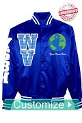 Custom World Ventures Baseball Jacket - Embroidered With Lifetime Guarantee