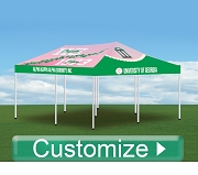 Custom Full Color Digital Print Tailgate Tent, Includes Professional Graphic Design