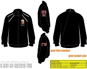 Kappa Alpha Psi, Gamma Psi, SPR 94 Track Jacket with Lifetime Embroidery Guarantee, Black (BAW)