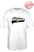 Alphas 1906 T-Shirt -  EMBROIDERED with Lifetime Guarantee