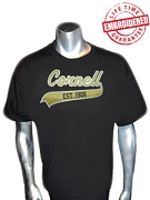 Cornell Est. 1906 Black T-Shirt (Alpha Founding School) - EMBROIDERED with Lifetime Guarantee