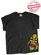Angry Ape Corner Design (Mascot #1) Black T-Shirt - EMBROIDERED with Lifetime Guarantee