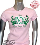 Ivy League Fitted T-Shirt, Pink - EMBROIDERED with Lifetime Guarantee