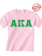 Alpha Kappa Alpha Silver Star T-Shirt, Pink - EMBROIDERED with Lifetime Guarantee