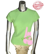 AKA Pinkie T-Shirt, Lime - EMBROIDERED with Lifetime Guarantee