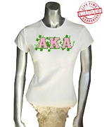 AKA Vines T-Shirt, White - EMBROIDERED with Lifetime Guarantee