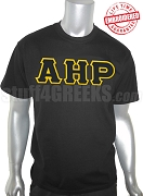 Alpha Eta Rho Men's T-Shirt with Greek Letters, Black - EMBROIDERED with Lifetime Guarantee
