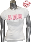 Alpha Eta Theta Greek Letter T-Shirt, White - EMBROIDERED with Lifetime Guarantee