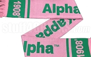 Alpha Kappa Alpha Scarf with Organization Name and Founding Year, Pink