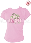 Alpha Kappa Alpha Hope, Pray, Fight Breast Cancer Awareness T-Shirt, Pink - EMBROIDERED with Lifetime Guarantee