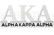 Alpha Kappa Alpha Chrome Greek Letters Car Decal (NS)