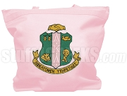 Alpha Kappa Alpha Tote Bag with Crest, Pink (NS)